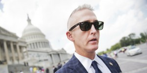 Rep. Trey Gowdy, R-S.C., speaks with the media on the East Front of the Capitol after a vote in the House, July 31, 2014. (Photo By Tom Williams/CQ Roll Call)