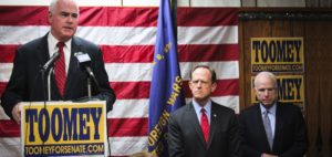Rep. Meehan campaigns for Sen. Toomey in Sep. 2016.